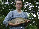 Mark Furnace with a 6lb Langham bream - July 2002
