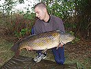 Marc Gormer with a 31lb common - July 2005