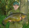 Mark Hewett with a huge 10lb 7oz Tench