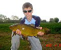 Jamie Jones with a 5lb 13oz tench - May 2005