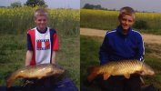 Karl Winter on his first visit to a CAPS water caught this fine pair of carp weighing 13lb and 14lb 8oz
