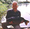Tim Hills with the rareley caught Young Black Mirror at 32lb 9oz