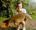 Tom White with his first Layer 22lb Carp - Sept 2004